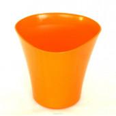 Кашпо для цветов Волна 1,5 л оранжевый
