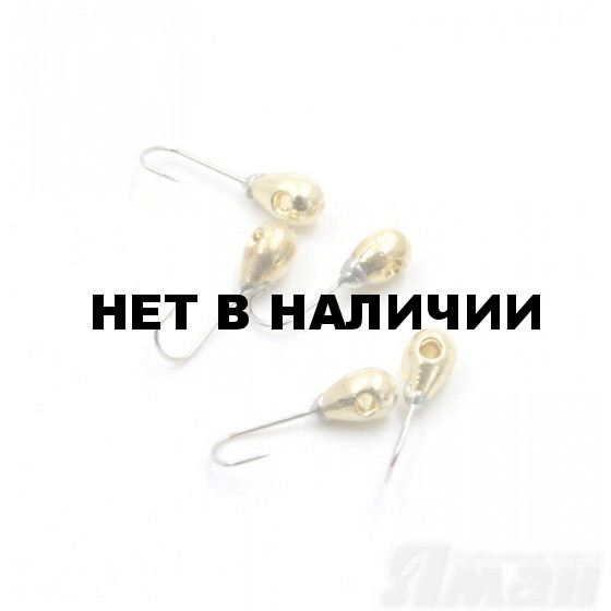 Мормышка вольфрам Яман Капля с отв, р.3, 0,30 г, цвет золото (5 шт.) Я-МР530