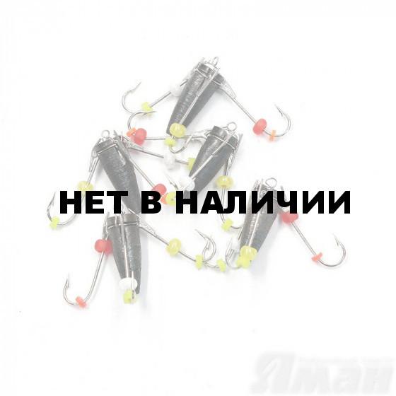 Мормышка вольфрам безнасадочная Яман Ведьма с 3-мя крючками, d-4 мм, 1,6 г (5 шт.) Я-МР1317