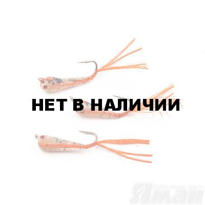 Мормышка Яман Малек пыздрик с ушком, L-15 мм, 0,2 г, Kumho №10, цвет красный (3 шт.) Я-МР1904
