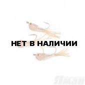 Мормышка Яман Малек пыздрик с ушком, L-15 мм, 0,2 г, Kumho №10, цвет оранжевый (3 шт.) Я-МР1905