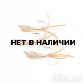 Мормышка Яман Малек пыздрик с ушком, L-18 мм, 0,3 г, Kumho №4, цвет оранжевый (3 шт.) Я-МР1901