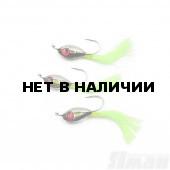 Мормышка Яман Подсадка малек с ушком, L-11 мм, 0,2 г, №8, цвет зеленый (3 шт.) Я-МР1860