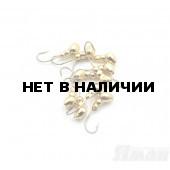 Мормышка Яман муравей с отв., цвет Gold Plated, d 4 (5 шт.) Я-МР64