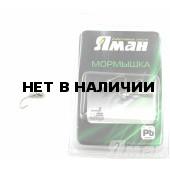 Мормышка Яман муравей с отв., цвет NL с фосф. пяткой, d 4 (5 шт.) Я-МР165