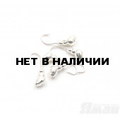 Мормышка Яман муравей с отв., цвет Silver Plated, d 3 (5 шт.) Я-МР60