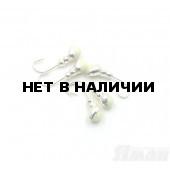 Мормышка Яман муравей с отв., цвет Silver Plated, с фосф. пяткой, d 4 (5 шт.) Я-МР167