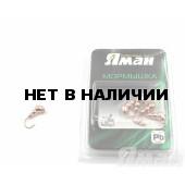 Мормышка Яман муравей с ушком, цвет Copper Plated, d 4 (5 шт.) Я-МР72