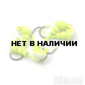 Мормышка Яман муравей с ушком., цвет 01, с фосф. пяткой, d 3 (5 шт.) Я-МР782