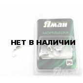Мормышка Яман ст. муравей с отв., цвет Silver Plated (5 шт.) Я-МР25