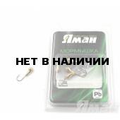 Мормышка Яман уралка с отв., цвет Gold Plated, с фосф. пяткой, d 5 (5 шт.) Я-МР185