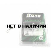 Мормышка Яман уралка с отв., цвет NL с фосф. пяткой, d 3 (5 шт.) Я-МР174