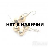 Мормышка Яман шар с отв., цвет Gold Plated, d 5, гран. (5 шт.) Я-МР109
