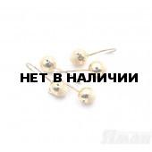 Мормышка Яман шар с отв., цвет Gold Plated, с фосф. пяткой, d 4 (5 шт.) Я-МР190