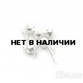 Мормышка Яман шар с отв., цвет Silver Plated, d 6, гран. (5 шт.) Я-МР120