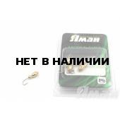 Мормышка Яман щелкун с отв., цвет Gold Plated, с фосф. пяткой (5 шт.) Я-МР136