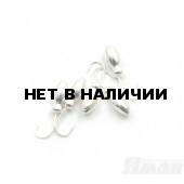 Мормышка Яман щелкун с отв., цвет Silver Plated (5 шт.) Я-МР35