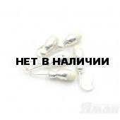 Мормышка Яман щелкун с отв., цвет Silver Plated, с фосф. пяткой (5 шт.) Я-МР137
