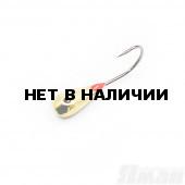 Мормышка Яман Уралка-М1 с коронкой, 0,6г. цвет латунь (5 шт.) Я-МР703Л