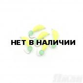 Мормышка безнасадочная Яман Банан желтый, d-4 мм, 1 г, кошачий глаз зеленый (5 шт.) Я-МР1822