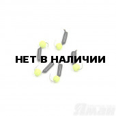 Мормышка безнасадочная Яман Гвоздешарик черный, d-2 мм, 0,45 г, шарик желтый неон (5 шт.) Я-МР1718