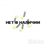 Мормышка безнасадочная Яман Гвоздешарик черный, d-3 мм, 0,85 г, шарик желтый неон (5 шт.) Я-МР1787