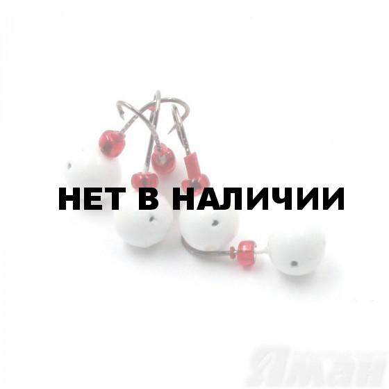 Мормышка литая Яман Дробинка Сред., 0,7 г, Kumho №22, цвет бел. с/накопит. (5 шт.) Я-МР1243БС
