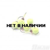 Мормышка литая Яман Дробинка Сред., 0,7 г, Kumho №22, цвет фц. желтый (5 шт.) Я-МР1243ФЖ