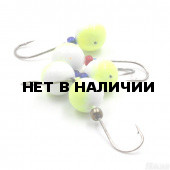 Мормышка литая Яман Дробинка, 3,0 г, Kumho №70, цвет фц. желтый с/накопит. (5 шт.) Я-МРЛ86