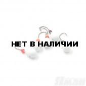 Мормышка литая Яман Капля, 0,6 г, Kumho №28, цвет бел. с/накопит. (5 шт.) Я-МР1247БС