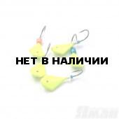 Мормышка литая Яман Кобра, 0,5 г, Kumho №64, цвет фц. желтый (5 шт.) Я-МР1261ФЖ
