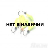 Мормышка литая Яман Кобра, 0,8 г, Kumho №65, цвет фц. желтый (5 шт.) Я-МР1262ФЖ