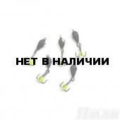 Мормышка вольфрам безнасадочная Яман Дьявол коронка никель d-3 мм, 0,6г (5шт.) Я-МР1539