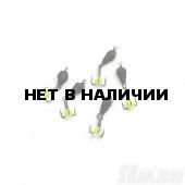 Мормышка вольфрам безнасадочная Яман Дьявол коронка медь d-4 мм, 1,1 г (5 шт.) Я-МР1531