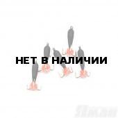 Мормышка вольфрам безнасадочная Яман Черт (дл.), d-3 мм, 0,9 г, (5 шт.) Я-МР1917
