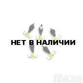 Мормышка вольфрам безнасадочная Яман Черт коронка никель (кор.), d-3 мм, 0,9 г (5 шт.) Я-МР1662