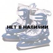 Коньки ледовые раздвижные PW-211F-2 темно-синий/белый (р.30-33)