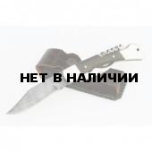 Нож складной Ворсма Гусар-3 дамасская сталь (кузница Семина)