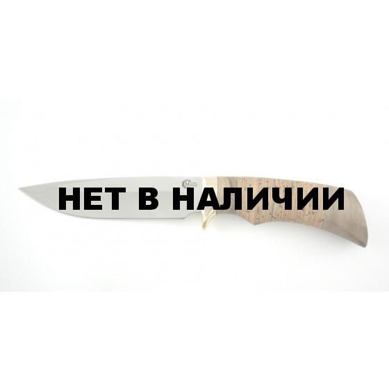 Нож туристический Ворсма Лазутчик, сталь 65х13, дерево-орех (кузница Семина)