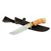 Нож туристический Ворсма Лорд, сталь 65х13, береста, орех (кузница Семина)