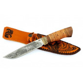 Нож туристический Ворсма Путник, сталь 65х13, дерево-орех, с гравировкой (кузница Семина)
