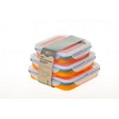 Набор контейнеров Tramp складных силиконовых TRC-089 (оранжевый)