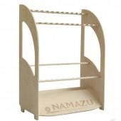 Стойка для удилищ Namazu пристенная двухъярусная под 24 шт 610х340х750 мм (N-SS-05L)