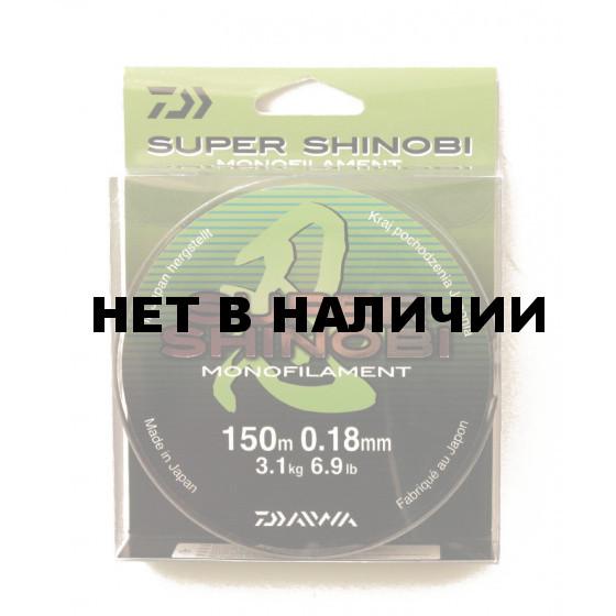 Леска Daiwa Super Shinobi 150м 0,18мм (3,1кг) светло-зеленая