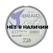 Леска плетеная Daiwa J-Braid X4 270м 0,17мм (8,4кг) желтая