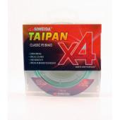 Леска плетеная Siweida Taipan Classic PE Braid X4 135м 0,23мм (13,60кг) светло-зеленая