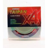 Леска плетеная Siweida Taipan Classic PE Braid X4 135м 0,26мм (15,90кг) светло-зеленая