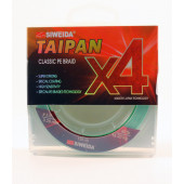 Леска плетеная Siweida Taipan Classic PE Braid X4 135м 0,28мм (18,20кг) светло-зеленая