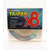 Леска плетеная Siweida Taipan Elite PE Braid X8 135м 0,18мм (9,91кг) мультиколор