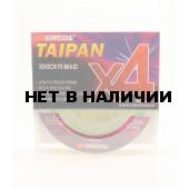 Леска плетеная Siweida Taipan Sensor PE Braid X4 135м 0,16мм (9,10кг) ярко-зеленая